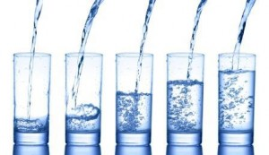 safe water in glasses