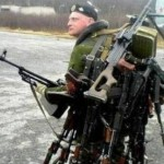 overloaded solider with rucksack