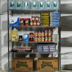 preppers store rack of food