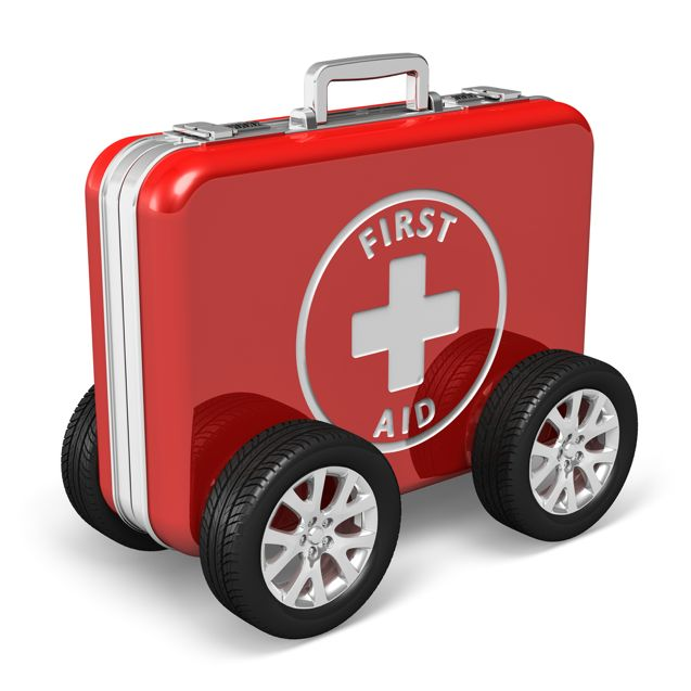 first aid kit on wheels