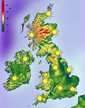 SOLAR map of UK