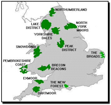 National Parks Uk Map.How To Go Wild Camping In The Uk