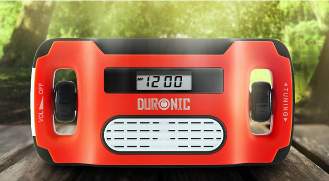 duronic solar powered radio