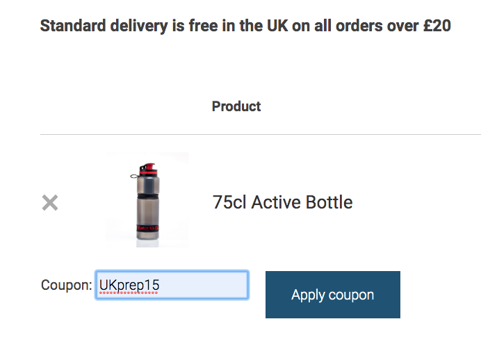 filter water bottle orderform